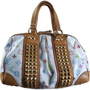 Auth louis vuitton Courtney Multicolore Mm White